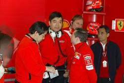 Activity at Ferrari garage