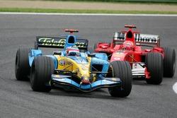 Fernando Alonso, Renault und Michael Schumacher, Ferrari