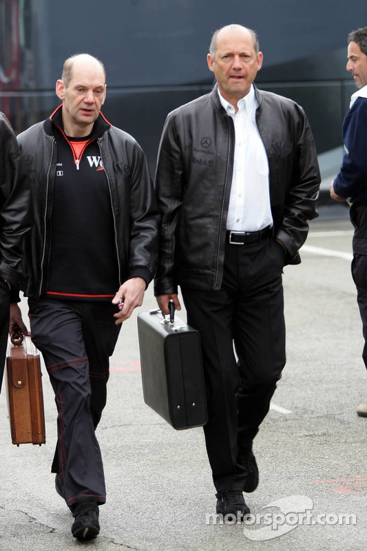 Adrian Newey y Ron Dennis