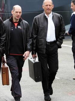Adrian Newey and Ron Dennis