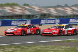 #11 Larbre Compétition Ferrari 550 Maranello: Gabriele Gardel, Pedro Lamy, #12 Larbre Compétition Ferrari 550 Maranello: Enzo Calderari, Lilian Bryner, Steve Zacchia