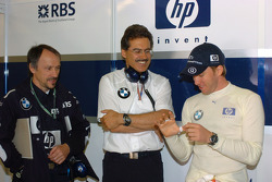 Heinz Paschen, Dr Mario Theissen and Nick Heidfeld