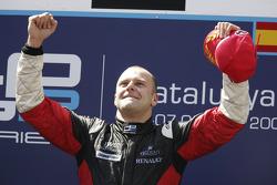 Podium: race winner Gianmaria Bruni
