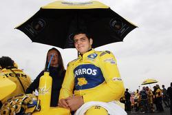 Alex Barros en la parrilla de salida