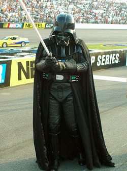Darth Vador ready for NASCAR action