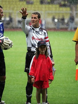 Charity Soccer at the Stade Louis 2, with Prince Albert II of Monaco: Michael Schumacher