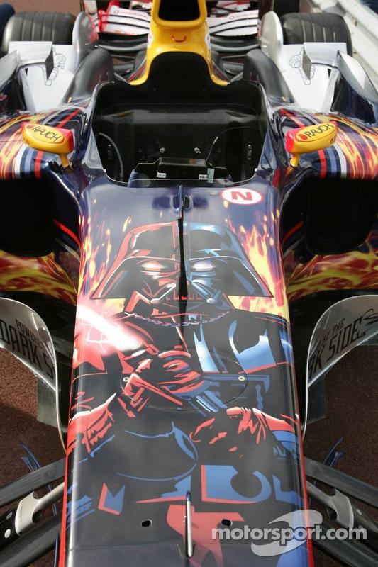 Darth Vader auf dem Auto von Red Bull Racing