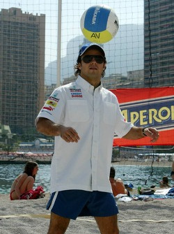 RTL beach volley match: Felipe Massa