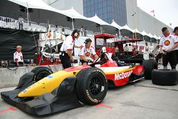Newman/Hass Racing crew members at work