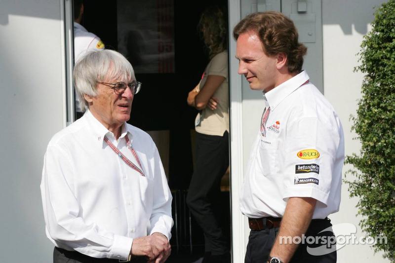 Bernie Ecclestone y Christian Horner