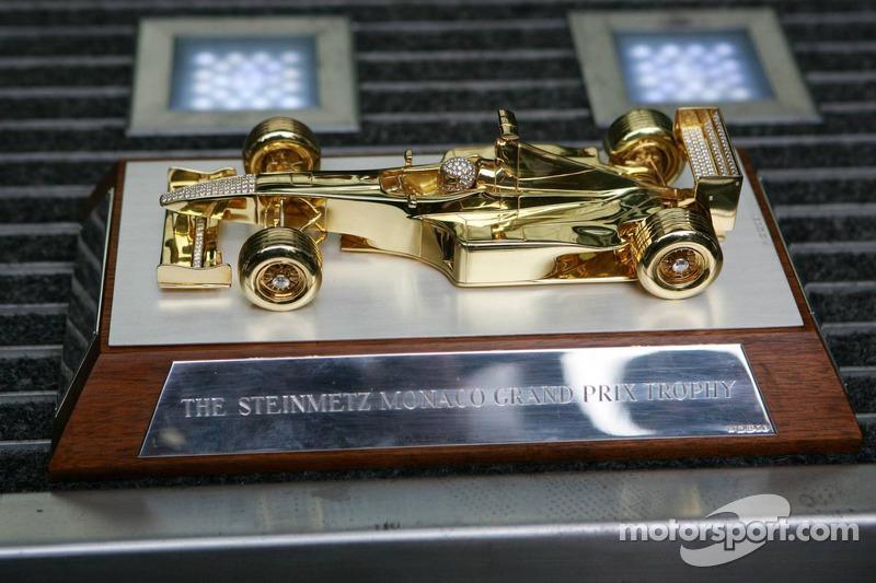 El trofeo de Steinmetz otorgado al ganador del GP de Mónaco
