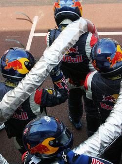 Red Bull Racing fuel crew