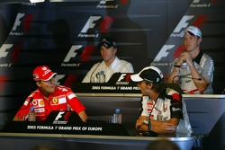 FIA Thursday press conference: Nick Heidfeld, Ralf Schumacher, Michael Schumacher and Jenson Button