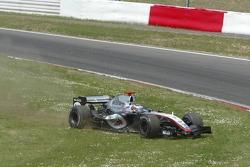 Off-track excursion for Kimi Raikkonen