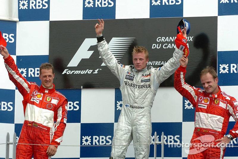 2005 - 1. Kimi Räikkönen, 2. Michael Schumacher, 3. Rubens Barrichello