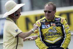 Owner of BAM Racing Beth Ann Morenthau with Ken Schrader