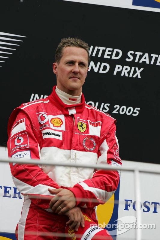 Podium : Michael Schumacher, vainqueur