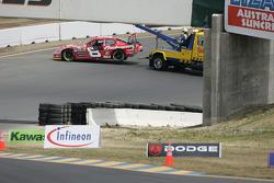 Dale Earnhardt Jr. crashes on lap 3