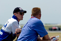 Chris Dyson watches the race