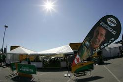 Team Australia paddock area
