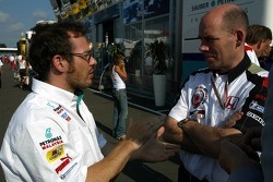 Jacques Villeneuve and Peter Sauber