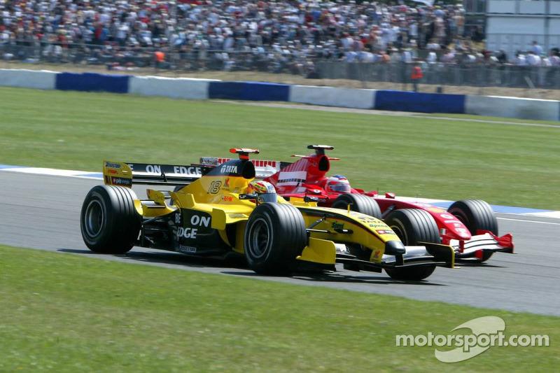 Tiago Monteiro y Rubens Barrichello