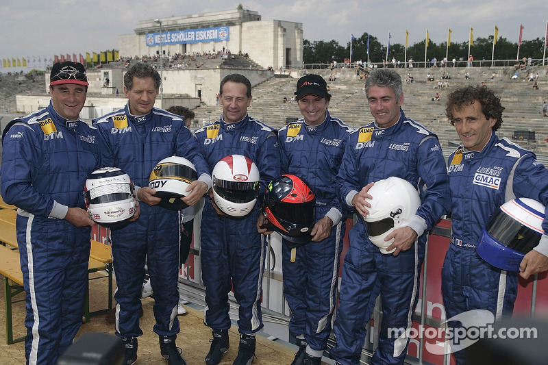 Nigel Mansell, Jody Scheckter, Johnny Cecotto, Emerson Fittipaldi, Mick Doohan y Alain Prost