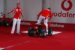Vodafone event at Hockenheim Talhaus: Michael Schumacher and Rubens Barrichello