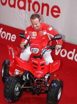 Vodafone event at Hockenheim Talhaus: Rubens Barrichello paints with a quad bike