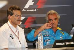 Press conference: Dr Mario Theissen and Flavio Briatore