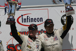 GT1 podium: class winners Ron Fellows and Johnny O'Connell, with Oliver Gavin and Olivier Beretta and Terry Borcheller and Johnny Mowlem