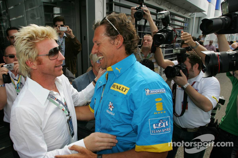 Boris Becker y el actor Ralf Möller