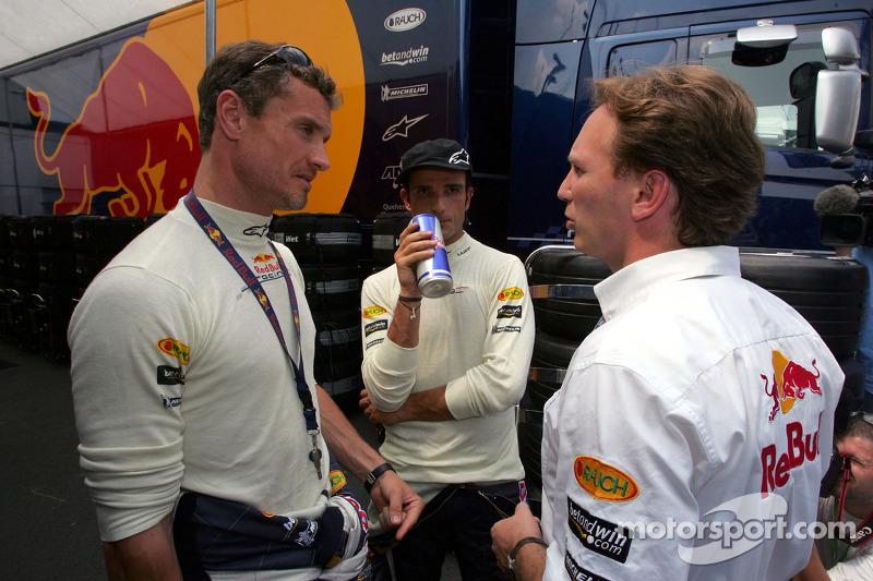 David Coulthard, Vitantonio Liuzzi y Christian Horner