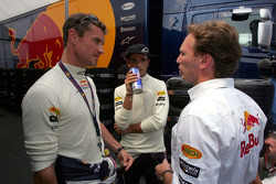 David Coulthard, Vitantonio Liuzzi and Christian Horner