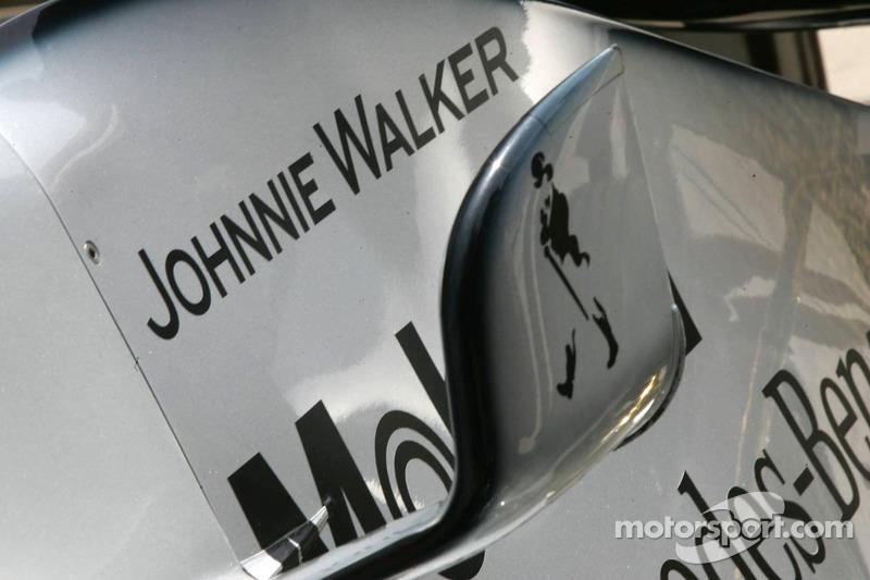Patrocinio de Johnnie Walker en el McLaren