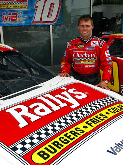 Scott Riggs with the new Checkers/Rally's Chevy
