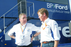 Ford CEO Lewis Booth with Ford team director Malcolm Wilson