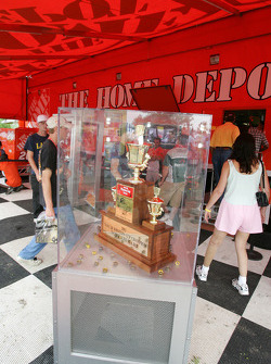 The 2002 Winston Cup of Tony Stewart on display
