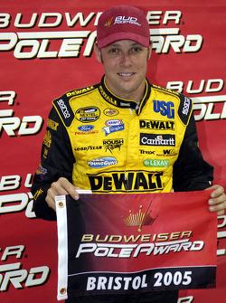 Pole winner Matt Kenseth celebrates