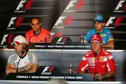 FIA Thursday press conference: Jarno Trulli, Michael Schumacher, Juan Pablo Montoya and Giancarlo Fisichella