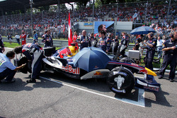 Red Bull Racing car on the starting grid