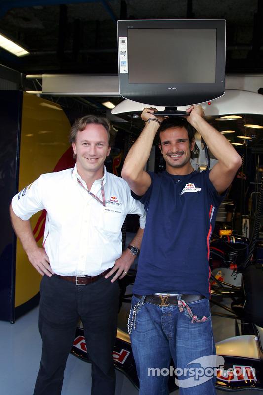 Christian Horner y Vitantonio Liuzzi