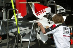 BAR Honda team member at work