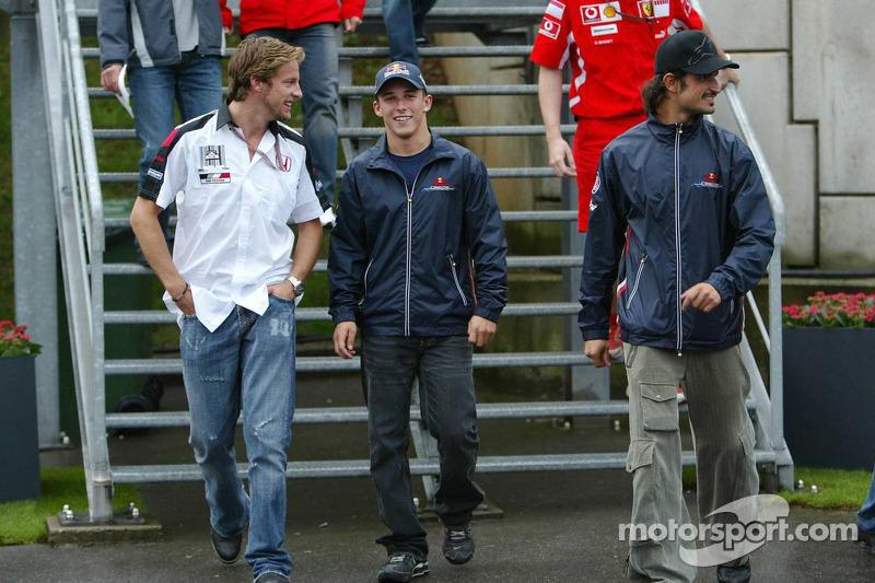 Jenson Button, Christian Klien y Vitantonio Liuzzi