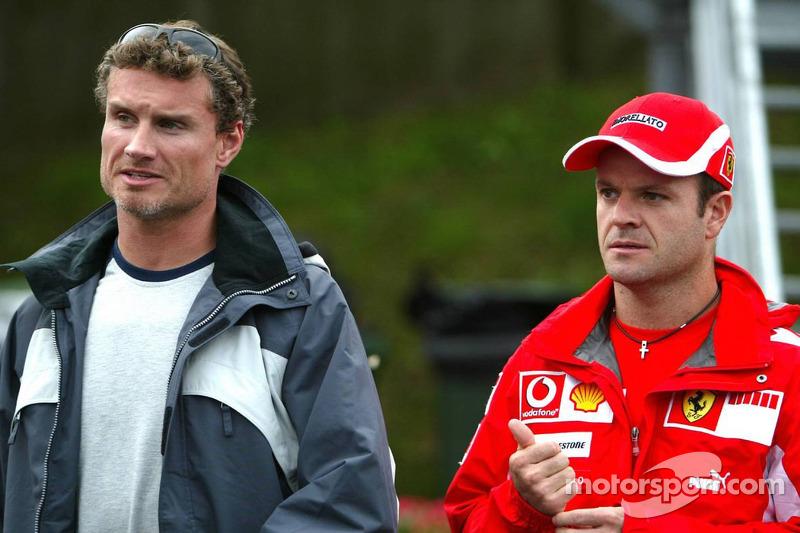 David Coulthard y Rubens Barrichello