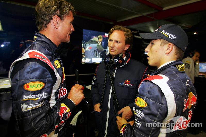 David Coulthard, Christian Horner y Christian Klien