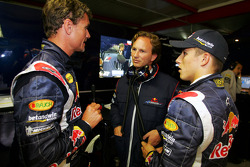 David Coulthard, Christian Horner and Christian Klien