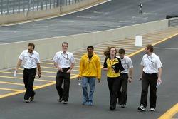 Narain Karthikeyan walks the track