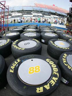 Race tires for Dale Jarrett