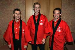 Mitsubishi media event: Gilles Panizzi, Harri Rovanpera and Gianluigi Galli